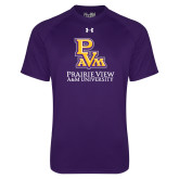Under Armour Purple Tech Tee-PVAM Stacked