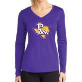 Ladies Syntrel Performance Purple Longsleeve Shirt-PVAM Texas