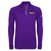 Under Armour Purple Tech 1/4 Zip Performance Shirt-Official Logo
