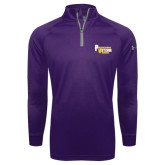 Under Armour Purple Tech 1/4 Zip Performance Shirt-PV Marching Storm Band