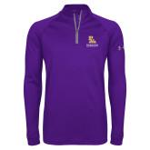 Under Armour Purple Tech 1/4 Zip Performance Shirt-PVAM Stacked