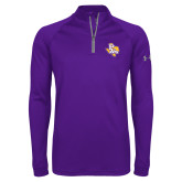 Under Armour Purple Tech 1/4 Zip Performance Shirt-PVAM Texas