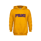Youth Gold Fleece Hood-Arched PVAMU