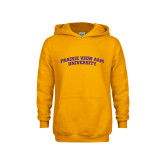 Youth Gold Fleece Hood-Arched Prairie View A&M
