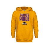 Youth Gold Fleece Hood-Panther Pride