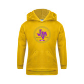 Youth Gold Fleece Hoodie-PVAM Marching Band Seal