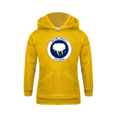 Youth Gold Fleece Hoodie-Marching Storm Cloud Circle