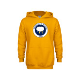 Youth Gold Fleece Hoodie-Marching Storm Cloud Circle - Kid