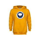 Youth Gold Fleece Hoodie-Marching Storm Cloud Circle - Future