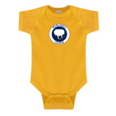 Gold Infant Onesie-Marching Storm Cloud Circle