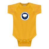 Gold Infant Onesie-Marching Storm Cloud Circle - Fan
