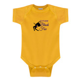 Gold Infant Onesie-Future Black Fox