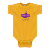 Gold Infant Onesie-Future Twirling Thunder