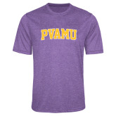 Performance Purple Heather Contender Tee-Arched PVAMU