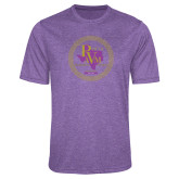 Performance Purple Heather Contender Tee-PVAM Marching Band Seal