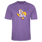 Performance Purple Heather Contender Tee-PVAM Texas