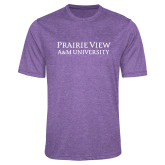 Performance Purple Heather Contender Tee-Word Mark Stacked