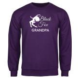 Purple Fleece Crew-Black Fox Grandpa