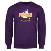 Purple Fleece Crew-Twirling Thunder Alumni