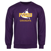 Purple Fleece Crew-Twirling Thunder Grandpa