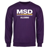 Purple Fleece Crew-MSD Alumni