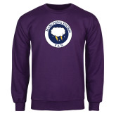 Purple Fleece Crew-Marching Storm Cloud Circle - Fan
