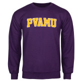 Purple Fleece Crew-Arched PVAMU