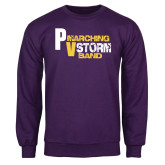 Purple Fleece Crew-PV Marching Storm Band