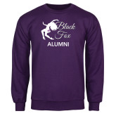 Purple Fleece Crew-Black Fox Alumni