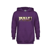 Youth Purple Fleece Hood-PVAMU