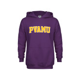 Youth Purple Fleece Hoodie-Arched PVAMU