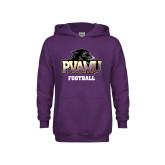 Youth Purple Fleece Hood-Football