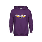 Youth Purple Fleece Hoodie-Football Design