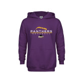 Youth Purple Fleece Hoodie-Baseball Design