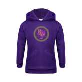 Youth Purple Fleece Hoodie-PVAM Marching Band Seal