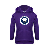 Youth Purple Fleece Hoodie-Marching Storm Cloud Circle