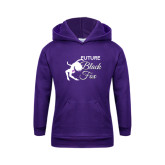 Youth Purple Fleece Hoodie-Future Black Fox