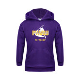 Youth Purple Fleece Hoodie-Future Twirling Thunder