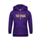 Youth Purple Fleece Hoodie-You Dont Want It With The Storm