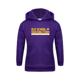 Youth Purple Fleece Hoodie-Old School w/ Cloud