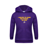 Youth Purple Fleece Hoodie-The Storm To NYC w/ Cloud