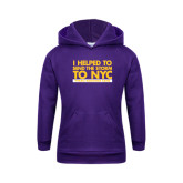 Youth Purple Fleece Hoodie-The Storm To NYC Stacked