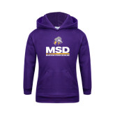 Youth Purple Fleece Hoodie-MSD w/ PVAM Logo