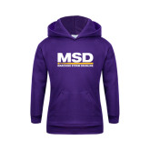 Youth Purple Fleece Hoodie-MSD