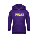 Youth Purple Fleece Hoodie-PVAMU Black Fox Overlap