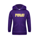 Youth Purple Fleece Hoodie-PVAMU Twirling Thunder Overlap