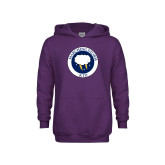 Youth Purple Fleece Hoodie-Marching Storm Cloud Circle - Kid