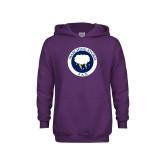 Youth Purple Fleece Hoodie-Marching Storm Cloud Circle - Fan