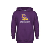 Youth Purple Fleece Hoodie-PVAM Stacked
