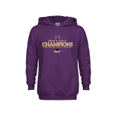 Youth Purple Fleece Hoodie-2018 Mens Golf Champions